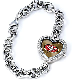 NFL Women'sNFL-HEA-SF Heart Collection San Francisco 49ers Watch