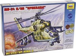 Zvezda 7293 - Soviet Attack Helicopter MI-24V/VP HIND E - Plastic Model Kit Scale 1/72 Lenght 11,75