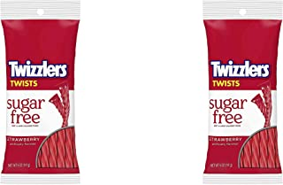 Twizzlers Sugar Free Strawberry Twists, 5-Ounce Bags (Pack of 2)