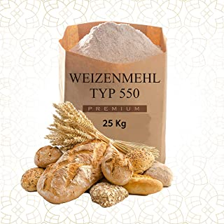 Weizenmehl Typ 550 - 25Kg Für BROT, BRÖTCHEN, PIZZA usw