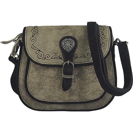 Domelo klein Trachtentasche Leder Umhängetasche Damen Oktoberfest Tasche Dirndltasche Handtasche Crossbody Bag Schultertasche Ledertasche Wiesn Accessories Frauen Taschen Geschenke 91364