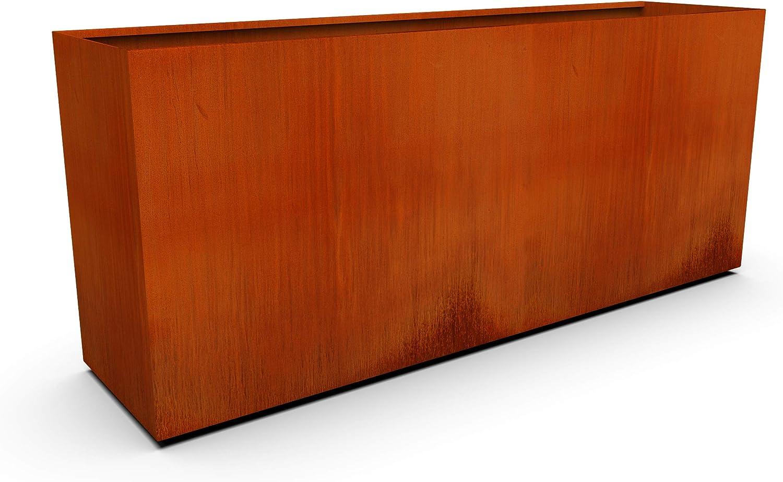 PLANTERCRAFT Corten Steel At the price online shopping Metal Sizes Rectangular Planter Box