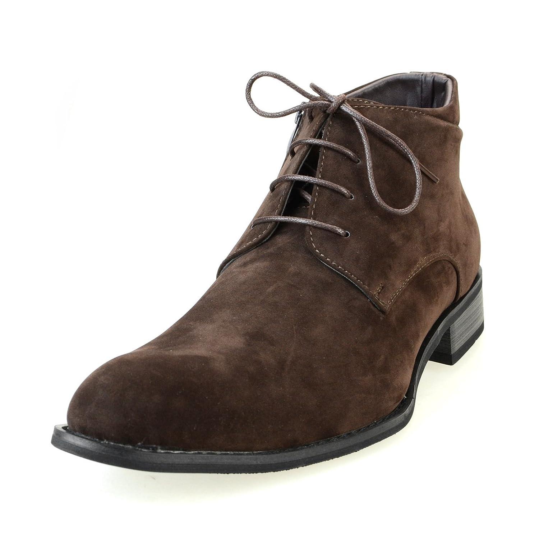 [エムエムワン] チャッカブーツ ショートブーツ ビジネスブーツ ビジネスシューズ メンズ サイドジップ フェイクスエード ポインテッド ラウンドトゥ 春 靴 【 MPB1911SZ-2-S 】