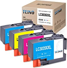 TEINO Compatible Ink Cartridges Replacement for Brother LC3035 LC3035BK LC3035C LC3035M LC3035Y use with Brother MFC-J995DW MFC-J805DW MFC-J995DW XL (Black, Cyan, Magenta, Yellow, 4-Pack)