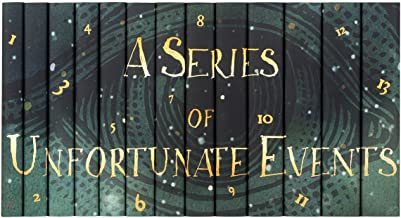 Juniper Books Lemony Snicket's A Series of Unfortunate Events Book Set with Custom Dust Jackets