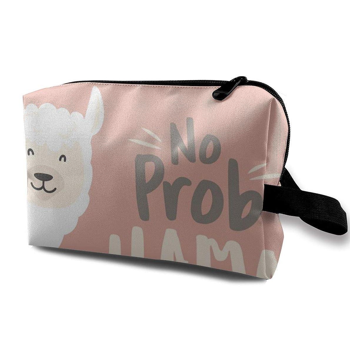 家ゆるくフェミニンかわいいラマ 化粧バッグ 収納袋 女大容量 化粧品クラッチバッグ 収納 軽量 ウィンドジップ