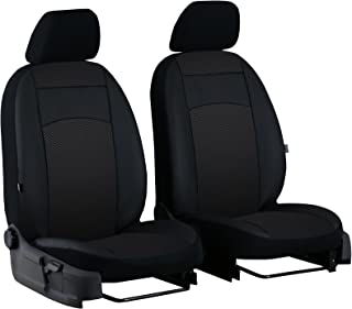 EJP Maßgefertigte Vordersitzbezüge für X1 (F48) ab 2015. Design ROYAL Fahrersitz + Beifahrersitz. Hier Farbe SCHWARZ (1EX)