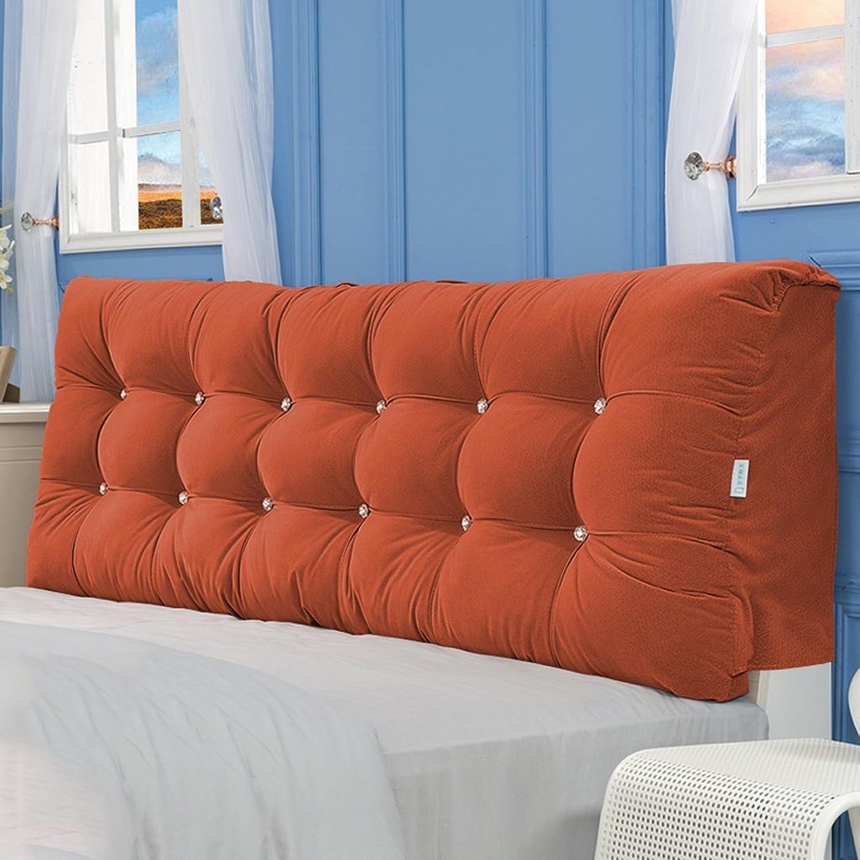 JIMI-I Coussin de tête de lit en tatami, dossier oreiller en coton Pp, lecture stéréo, coussin de tête de coussin dorsal lavable (8 couleurs, 4 tailles)