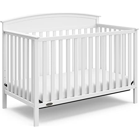 Graco Benton 4-in-1 Convertible Crib (White) Solid Pine and Wood Product Construction, Converts to Toddler Bed, Day Bed, and Full Size Bed (Mattress Not Included)