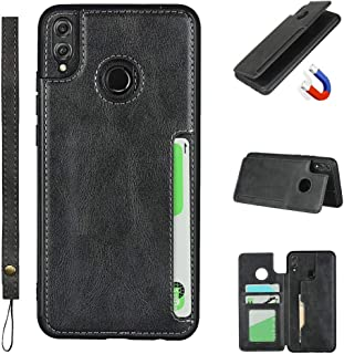 Jaorty Huawei Honor 8X Luxury PU Leather Case,Credit Card Holder,Cash Slots,Stand Function Soft TPU Back Wallet Case Flip ...