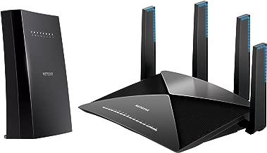 NETGEAR Nighthawk X6S Tri-Band WiFi Range Extender (EX8000) with NETGEAR Nighthawk X10 – AD7200 802.11ac/ad Quad-Stream MU-MIMO WiFi Router (R9000)