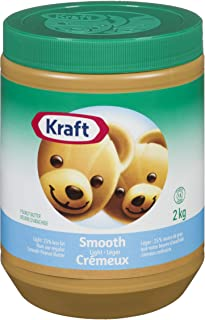 Kraft Peanut Butter Smooth - Light 2 kg (Made In Canada)