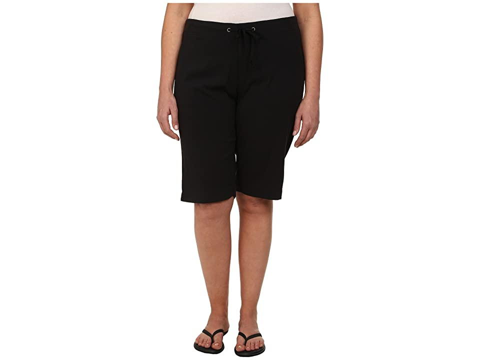 Columbia Plus Size Anytime Outdoortm Long Short (Black) Women