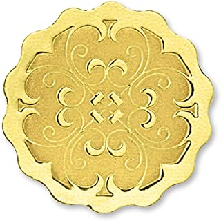 Scalloped Embossed Foil Certificate Seals, 32 Count (Gold)