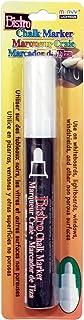 قلم طباشير بيسترو العادي برأس عريض مارفي 480-C-0 من Uchida، أبيض