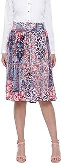 oxolloxo Women's Graphic Print Skirt (Multi-Coloured)
