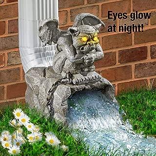 CT DISCOUNT STORE Gargoyle Downspout Garden Outdoor Statue Decoration