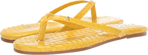 Yellow Scaled Leather