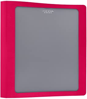 Five Star 1-1/2 Inch 3 Ring Binder, View Binder, Customizable Cover, Red (73366)