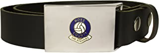 Ross County football club leather snap fit belt