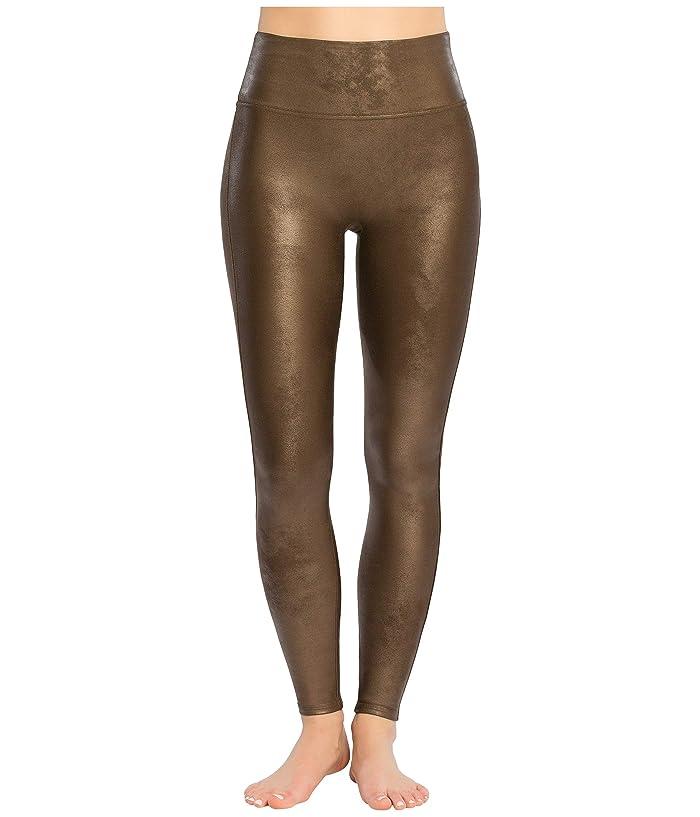 Spanx Faux Leather Leggings (Bronze Metal) Women