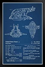 Toy Space Vehicle 1983 Official Patent Blueprint Black Wood Framed Poster 14x20