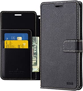LG V40 ThinQ Wallet Case Qoosan Leather Flip Kickstand Phone Case with Card Holder