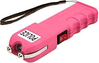 POLICE Stun Gun 928 - 58 Billion Heavy Duty Rechargeable with LED Flashlight, Pink