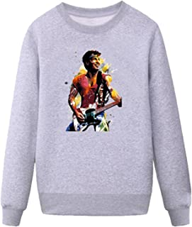 BMWW Men's Bruce Springsteen Figures Oil Painting Sweatshirt grey XL