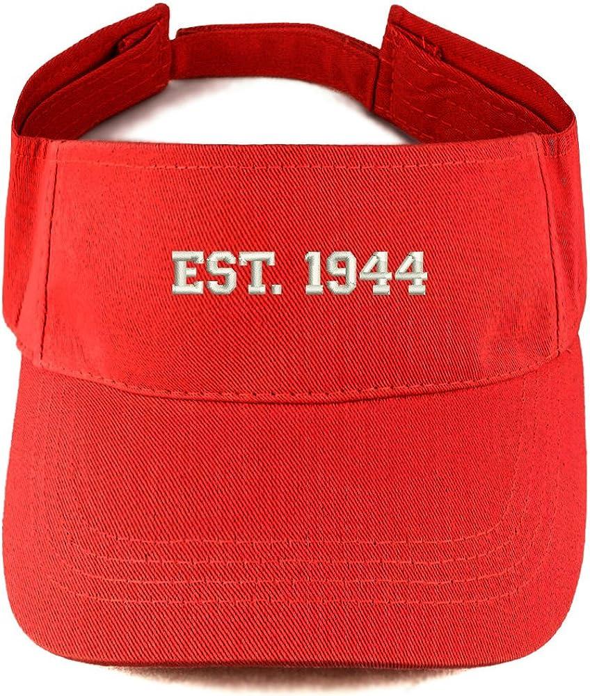 Trendy Apparel Shop EST 1944 Embroidered - 77th Birthday Gift Summer Adjustable Visor