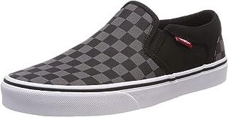 Vans Asher, Men's Shoes, Black ((Checkers) black/pewter 8JU), 10.5 UK (45 EU)