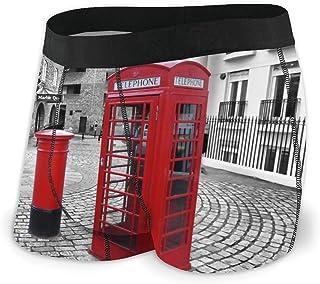 Calzoncillos Boxer de Cabina telefónica roja Americana Calzoncillos cómodos para Hombre Pantalones Cortos elásticos para Mostrar su Forma