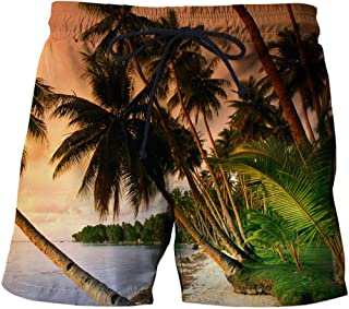 Men'S Exercise & Fitness Apparel Beach Shorts Beach Coconut Straight Casual Shorts