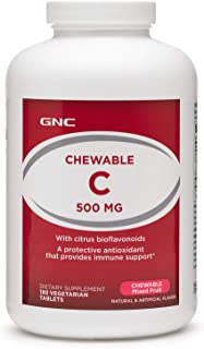 GNC Chewable C 500mg, 180 Tablets, Provides Immune Support