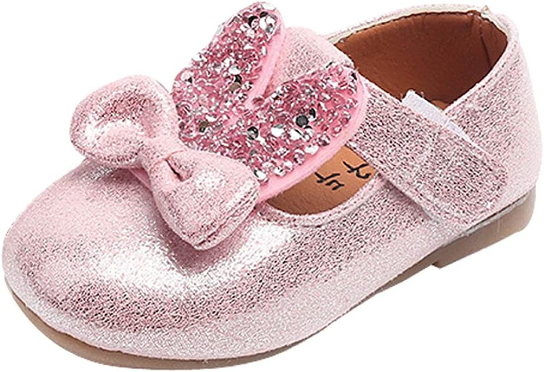 Amiley Toddler Baby Sequin 35% OFF Bling Ears Portland Mall Bowknot Rabbit Casua
