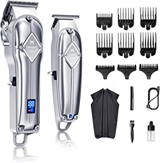 Limural Hair Clippers for Men + Cordless Close Cutting T-Blade Trimmer Kit, Professional Hair Cutting Kit Beard Trimmer Ba...