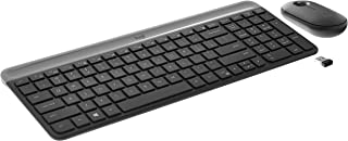 Combo Teclado e Mouse sem fio Logitech MK470 com Design Slim, Digitação e Clique Silencioso, Mouse Ambidestro, Conexão USB...