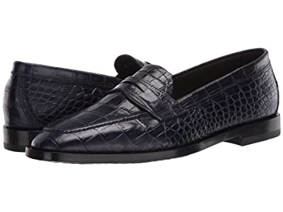Etro Stamped Croc Loafer (Navy) Men