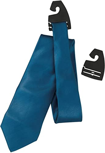 NAHANCO TC100 Plastic Tie Hanger, Black (Pack of 100)