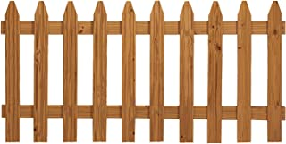Outdoor Essentials Pressure-Treated Cedar-Tone Picket Fence Panel Kit, 3 ft. x 6 ft.