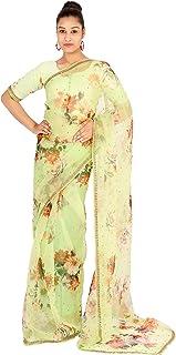 FIRENZI Silk Organza Digital Printed & Hand Embroidered Saree