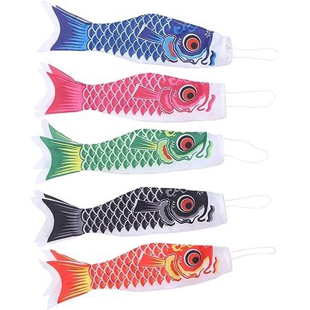 15cm Koi Nobori Carp Wind Sock Rose Red Fish Kite Flag Hanging Wall Decor