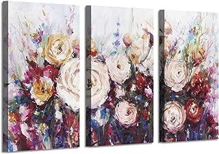 Large Floral Canvas Wall Art: Flower Botanical Pictures Shower Gold Foil Prints on Artwork for Living Room or Bedroom (  34