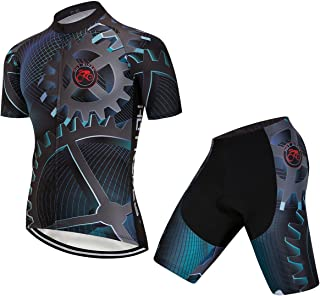 688be00ef Hot Rides Men s Quick Dry Cycling Jersey And 3D Gel Padded Shorts And Bib  Set