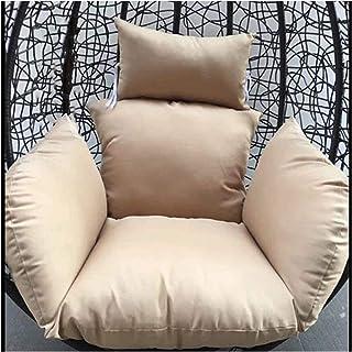 Mobiliario de jardín Cojines para sillas Cojín de asiento para silla de huevo, Cojines para hamaca de huevo para colgar, Sin soporte Cojín de asiento de columpio de color sólido Nido grueso con almoh