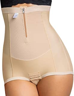 Mayuber Postpartum Belly Wrap Abdominal Compression Corset C Section Panty Girdle Shorts with Zipper