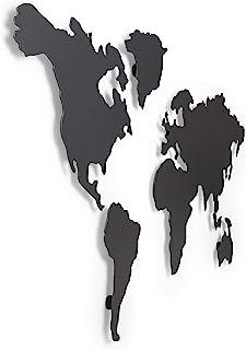 UMBRA Mappit. Mappemonde Décorative En Métal avec 12 Aimants