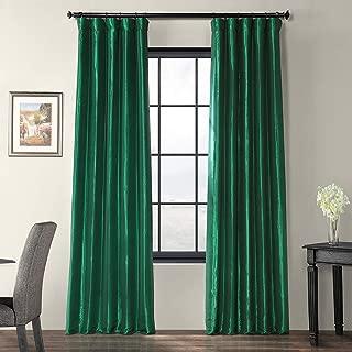 green faux silk curtains