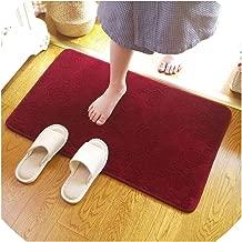 6090Cm Large Thicken Bathroom Rug Floor Pad Modern Non Slip Bath Mat Mechanical Wash Home Decor Carpet,Black,400Mmx1000Mm