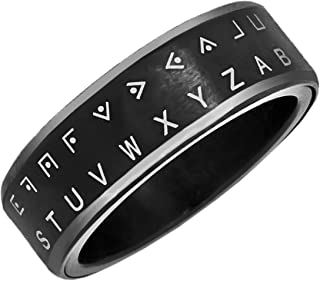 Decoder Ring Pig Pen Cipher Black Size 6